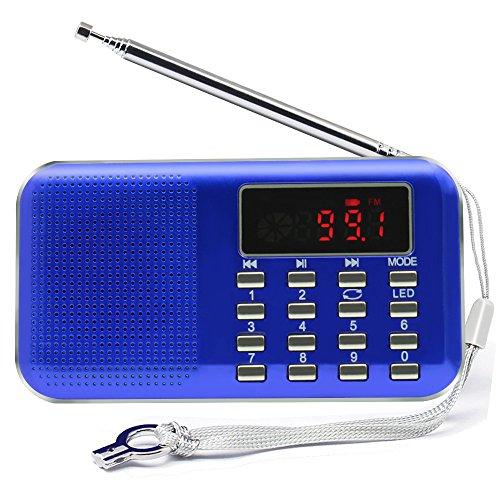 Mini Digital AM/FM Radio Speaker, Mifine Portable Stereo MP3