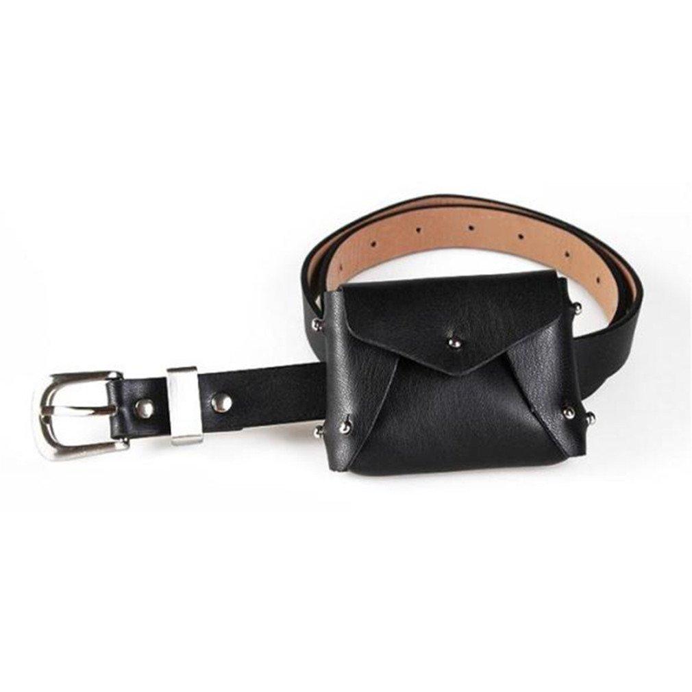 2a028bc53 Amazon.com: JNHVMC Abdb Pu Leather Waist Packs Fanny Pack Belt Bag Phone  Pouch Bags Travel Waist Pack Women Small Waist Bag Leather Envelope Pouch  Black: ...