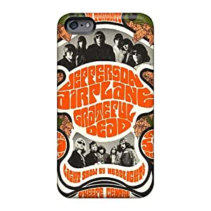 Shock-Absorbing Hard Phone Cover For Apple Iphone 6s With Customized Colorful Grateful Dead Band Pictures Casesbest88