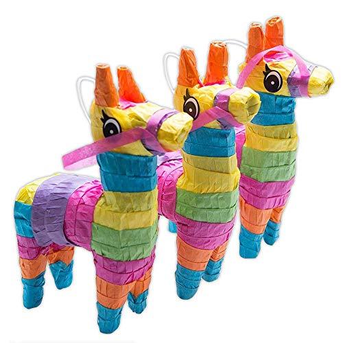 Rhode Island Novelty 4 x 7 Mini Donkey Pinatas, Set of 3