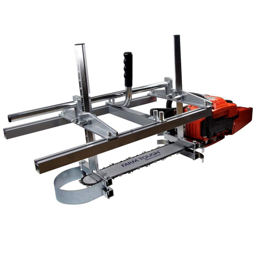 Lukcase 36'' Portable Chainsaw Mill Planking Milling for Saw Bar Size 14'' to 36'' Wood Cutting Slabbing Lumber Planks