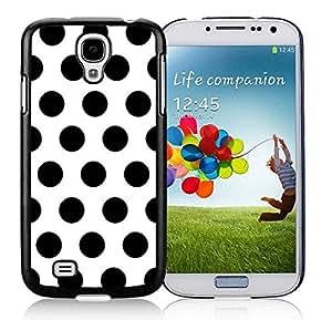 Diy Samsung Galaxy S4 Case Polka Dot White and Black Soft TPU Black Phone Cover Speck
