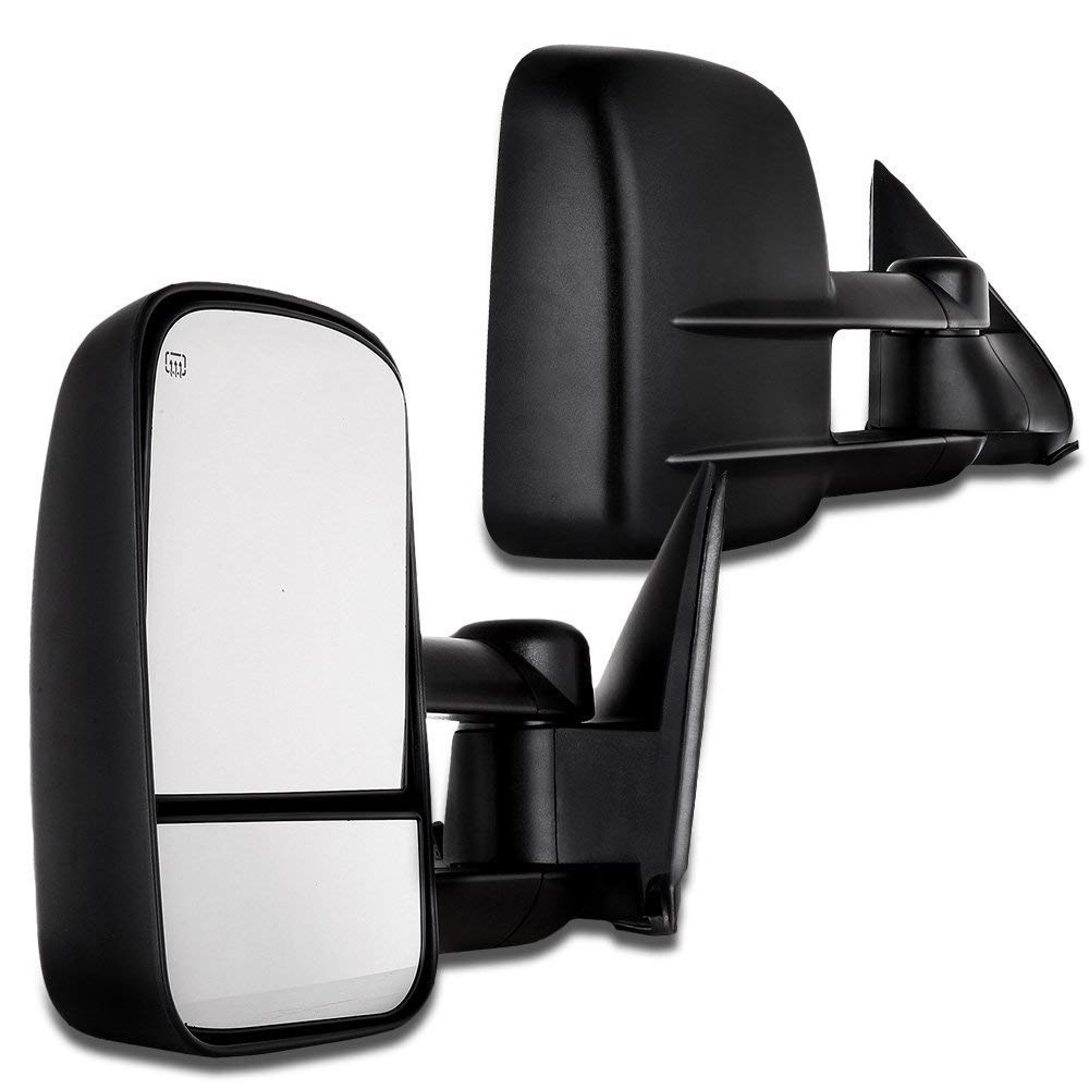 SCITOO Towing Mirrors, fit Chevy GMC Exterior Accessories Mirrors fit C1500 C2500 C3500 K1500 K2500 K3500 1988-1998 with Convex Glass Power Adjusting Manual Telescoping 050338-5206-1509097