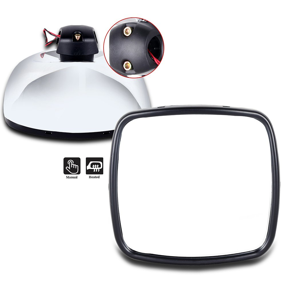 SCITOO Towing Mirrors Replacement Glass Side View Main Wide Manual Heated Mirror Truck Chrome Rear View Mirrors 4PCS fit Freightliner M2