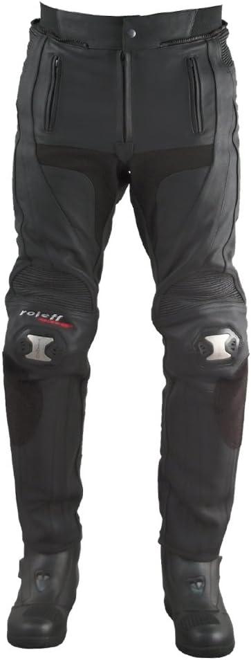 Gr/ö/ße 42 Schwarz Roleff Racewear Lederhose Unisex