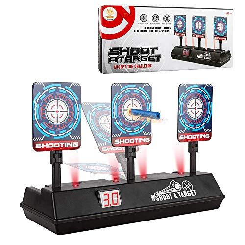 (2019 Updated Edition) Electric Digital targer for Nerf Guns,Scoring Auto Reset Nerf Target for Shooting with Wonderful Light Sound Effect for Nerf Guns Blaster N-Strike Elite/Mega/Rival Series - Gun Shooting Target