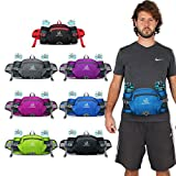 WATERFLY Fanny Pack with Water Bottle Holder Hiking Waist Pack Bag Running Belt Outdoor Sport Lumbar Pack Hip Pack for Riding Cycling Climbing Trekking Walking And for iPhone iPod Samsung Smartphones
