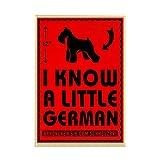 CafePress - I Know A Little German! Schnauzer Magnet - Rectangle Magnet, 2