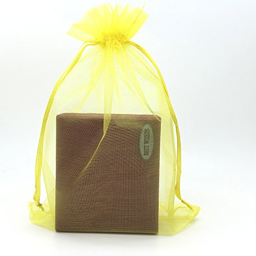 SUNGULF 100pcs Organza Pouch Bag Drawstring 6
