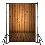 Yeele 5x7ft Vintage Brown Vertical Stripes Wood Floor Grain Wall Backdrop Retro Hardwood Wooden Board Photography Background Adult Kid Pets Artistic Portrait Nostalgic Photo Shoot Studio Props