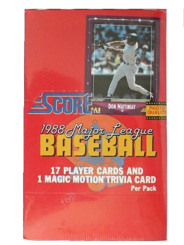 1988 Score Baseball Cards Unopened Wax Box [Toy]