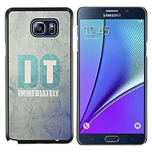 Stuss Case / Funda Carcasa protectora - Se cita de motivación de texto minimalista - Samsung Galaxy Note 5