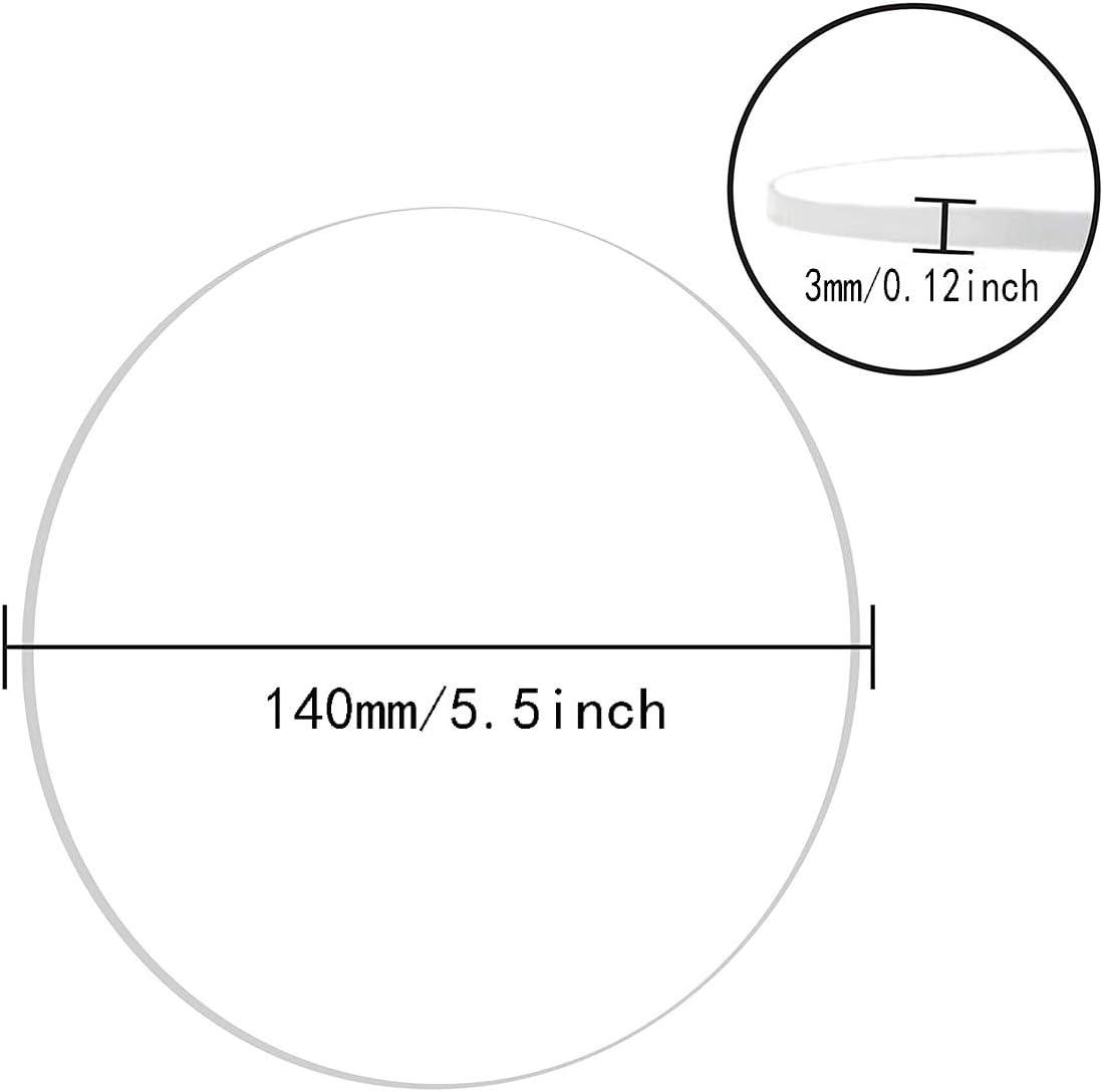 Plexiglass Disco Rotondo Wzqwzj Bianco Bordo di plastica Acrilico Rotondo del Cerchio Foglio Spessore: 3mm,Diameter:140mm per DIY progetti Fatti a Mano