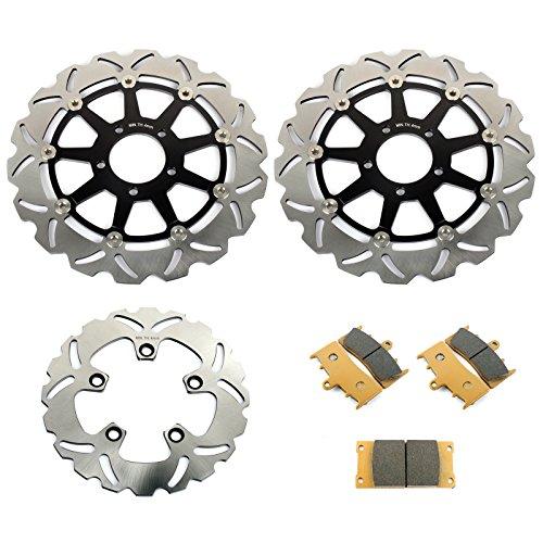 (TARAZON Full Set Brake Rotor + Pads for Suzuki Hayabusa GSXR 1300 GSX1300R 1999-2007 Motorcycle Brake Rotor)