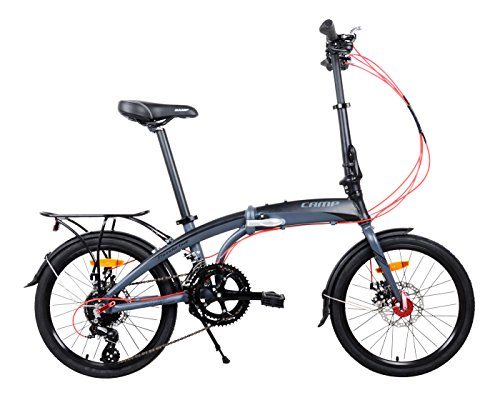 For Sale! Camp 20 Alloy 16 Speed Folding Bike Disc Brake Thunderbolt