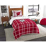 Northwest NOR-1COL845000003RET Wisconsin Badgers Soft & Cozy NCAA Twin Comforter Bed in a Bag, 64 x 86 in.