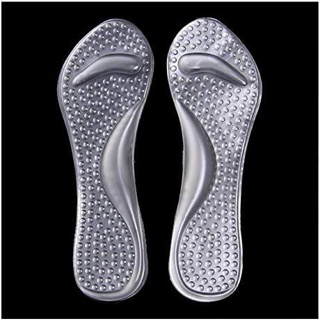 Lucarres Gel-Schuheinlagen bieten Fersenschmerzen Linderung Bequemer Ferseneinlagen 3/4 High Heel Schmerzlinderung Einlegesohlen Schuheinlagen für Frauen, durchsichtig, 2-6.5UK(34-39)
