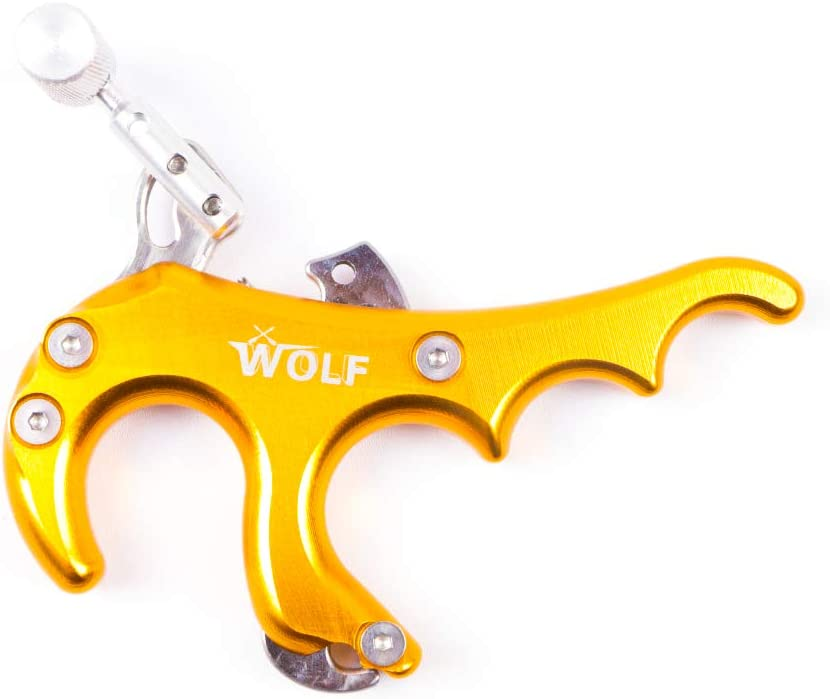 WEREWOLVES Archery 4 Finger Thumb Release Aids Compuesto Bow Thumb Trigger Caliper Release