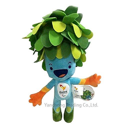 2016 Brazil Rio Olympic & Paralympic Games Mascot Cartoon Plush Toys Tom Stuffed Dolls for Fans Kids,30cm