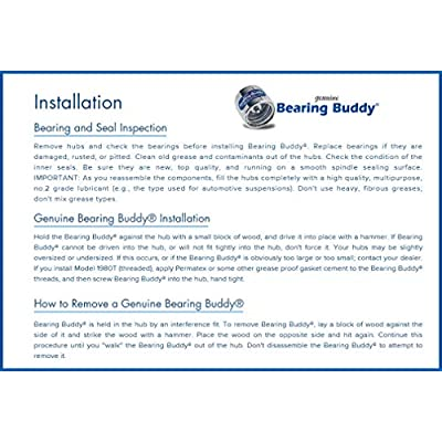 Bearing Buddy (4) 1.980 Boat Trailer Genuine Stainless Steel with Protective Bra & Auto Check Wheel Center Caps 1980A-SS 42204 (2 Pairs): Automotive
