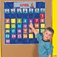 Nylon Classroom Calendar Pocket Chart by Fun Express