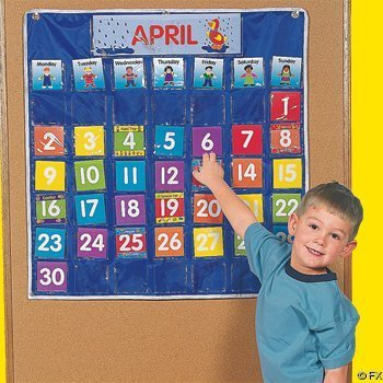 Nylon Classroom Calendar Pocket Chart by Fun Express for $<!--$17.99-->