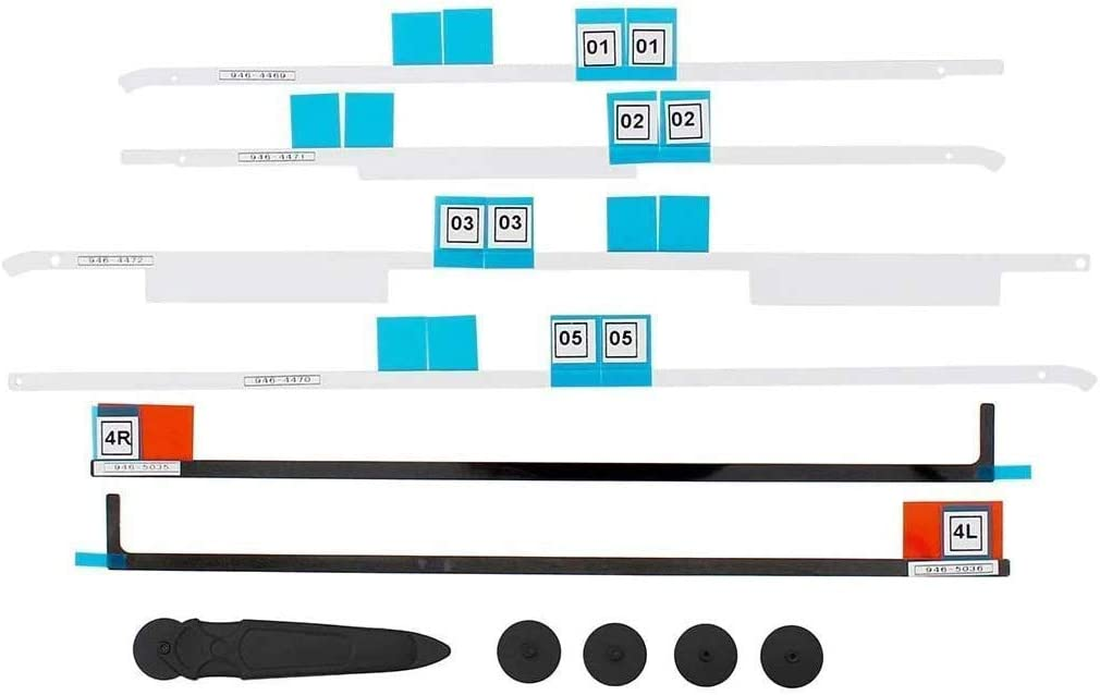 """CCYO Replacement LED LCD Panel Adhesive Tape Strips Sticker + Opening Wheel Tools Kit for iMac A1418 21.5"""" MD093LL/A MD094LL ME699LL 2012 2013 2015 2017"""