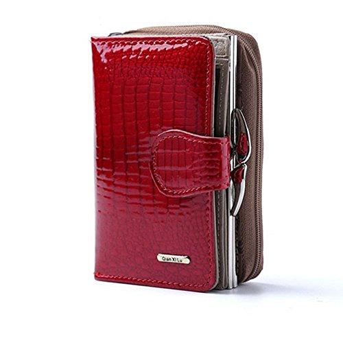 Eysee - Cartera de mano para mujer rojo morado 12.5cm*8.4cm*4cm Red