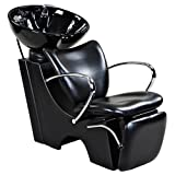 """Monroe"" Black Beauty Salon Backwash Chair & Sink Bowl"