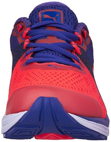 Puma Vrouwen Snelheid 600 Ontbranden Laag Top Lace Up Running Sneaker Red Blast-royal Blauw-wit