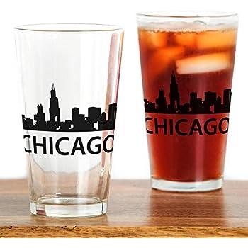 New York Subway Map Drinking Glass 16oz.Amazon Com Cafepress Chicago Skyline Pint Glass 16 Oz Drinking