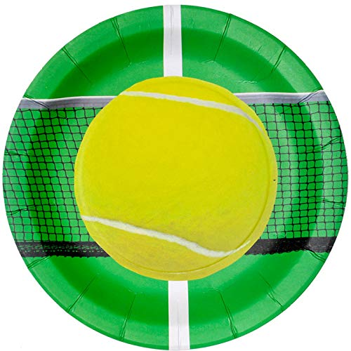 """TheCamoHut Tennis Party Plate (9"""" Round Plates, 8 Pack) Tennis Party Collection by Havercamp,Multicolor from Havercamp"""