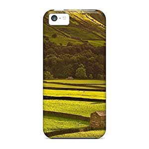 For Iphone 5c Protector Case Fenced Pastures In A Green Valley Phone Cover