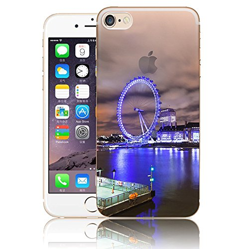 Funda para iPhone 6 Plus, Vandot TPU Silicona Pintado Funda para iPhone 6s Plus Patrones de Pintura Case Suave Flexible Silicone Gel Paisaje Cajas de Teléfono móvil para iPhone 6 Plus / 6s Plus 5.5 - Scenery 25