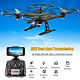 Qsmily JXD 510W 2.4G FPV RC Drone Altitude Hold 3D Flip Quadcopter With 0.3MP Wifi Camera (Black)