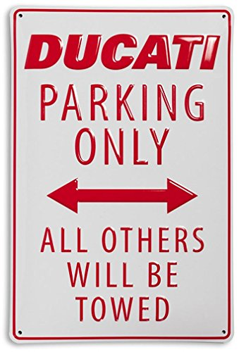 ducati-parking-only-all-other-will-be-towed-stamped-metal-sign-white-red