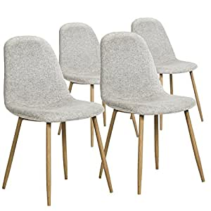 Amazon Com Best Choice Products Set Of 4 Fabric Eames