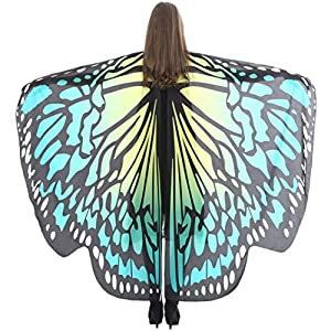 Wintialy Women Butterfly Wings Shawl, Wintialy Scarves Ladies Nymph Pixie Poncho Costume