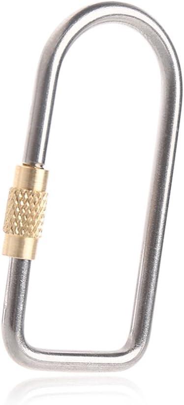 Titanium Alloy Carabiner Hook Buckle Screw Locking Key Chain Holder Camping Hook