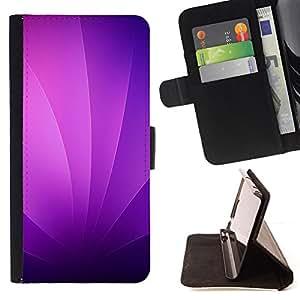 KingStore / Leather Etui en cuir / Samsung Galaxy S3 MINI 8190 / Remolinos púrpuras