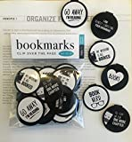 B&W BOOKISH QUOTE Bookmarks - Set of 30 - Bookmarks for Kids girls boys teens. Perfect for Gifts - School Student Incentives – Birthday Party Supplies – Reading Incentives - Party Favor Prizes!