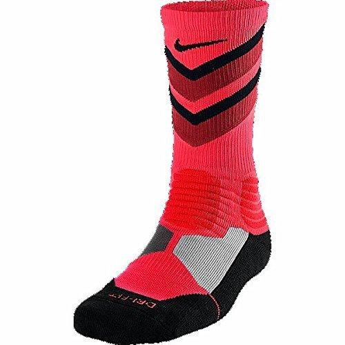Nike Mens Hyper Elite Chase Basketball Crew Socks Black S (Nike Hyper Chase)