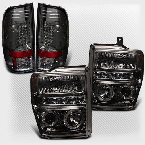 Rxmotoring 2008-2010 Ford F250 F350 F450 Projector Headlights + Tail Light