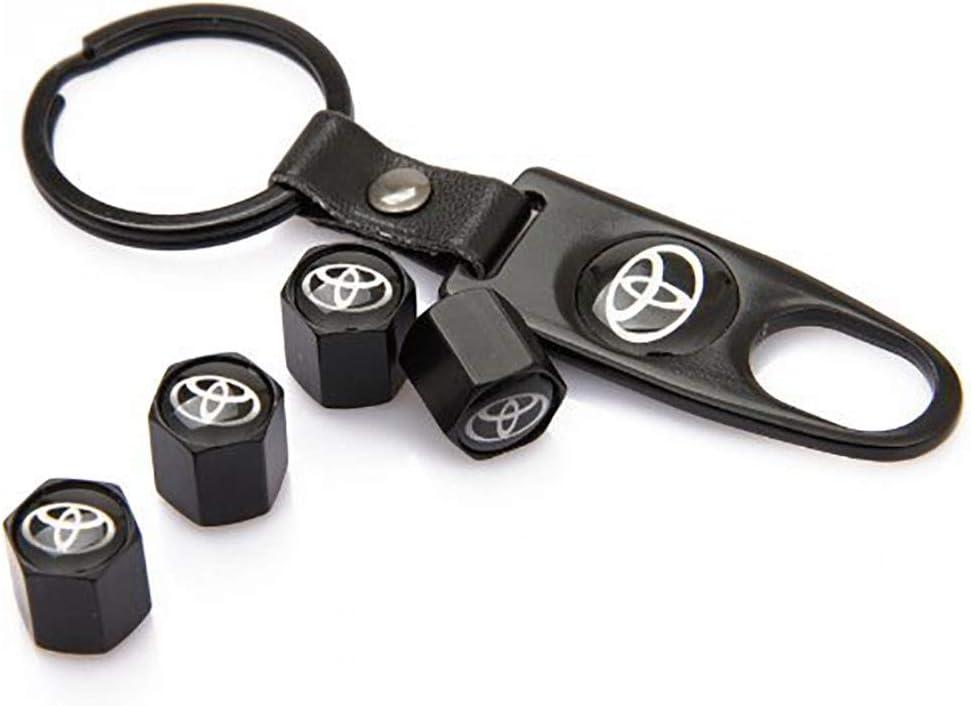 for Toyota Keychain 56mm Emblem Badge Sticker Wheel Hub Caps Centre Cover Tire Valve Stem Caps Cover for Toyota