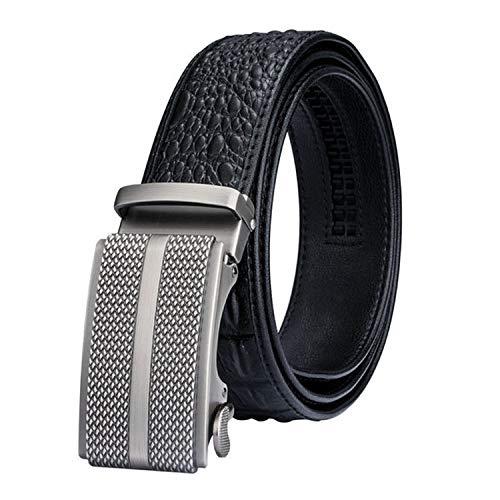 B2019 Crocodile Striped luxury Leather Belts For Men Automatic Buckle Male Belts,BKCA-0049,130cm