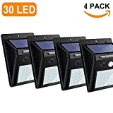 Cheap COUPOON Bright Solar Lights Outdoor 30 LED Wall Light with Motion Sensor,Wireless Waterproof Security Light for Patio Yard Deck Garden Driveway(4 Pack)