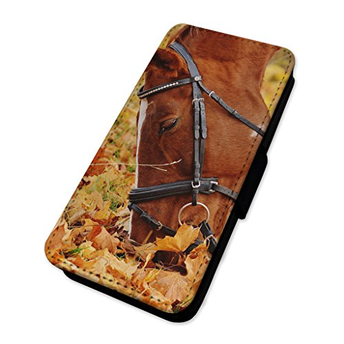 Beautiful Horse Grazing – Custodia ad aletta in pelle copertura di carta Apple Iphone 8 Plus