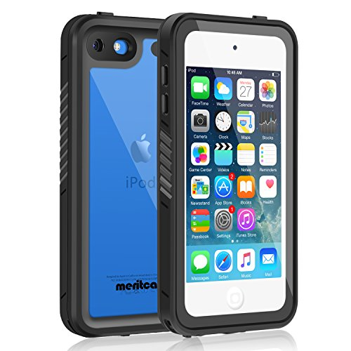 Waterproof Case for iPod 6/iPod 5, Meritcase Knight Series Waterproof Shockproof Dirtproof Snowproof Case Cover for Apple iPod Touch 5th/6th Generation for Snorkeling
