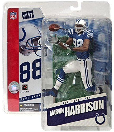 (McFarlane Toys NFL Sports Picks Series 12 Action Figure Marvin Harrison (Indianapolis Colts) Blue Jersey Variant)