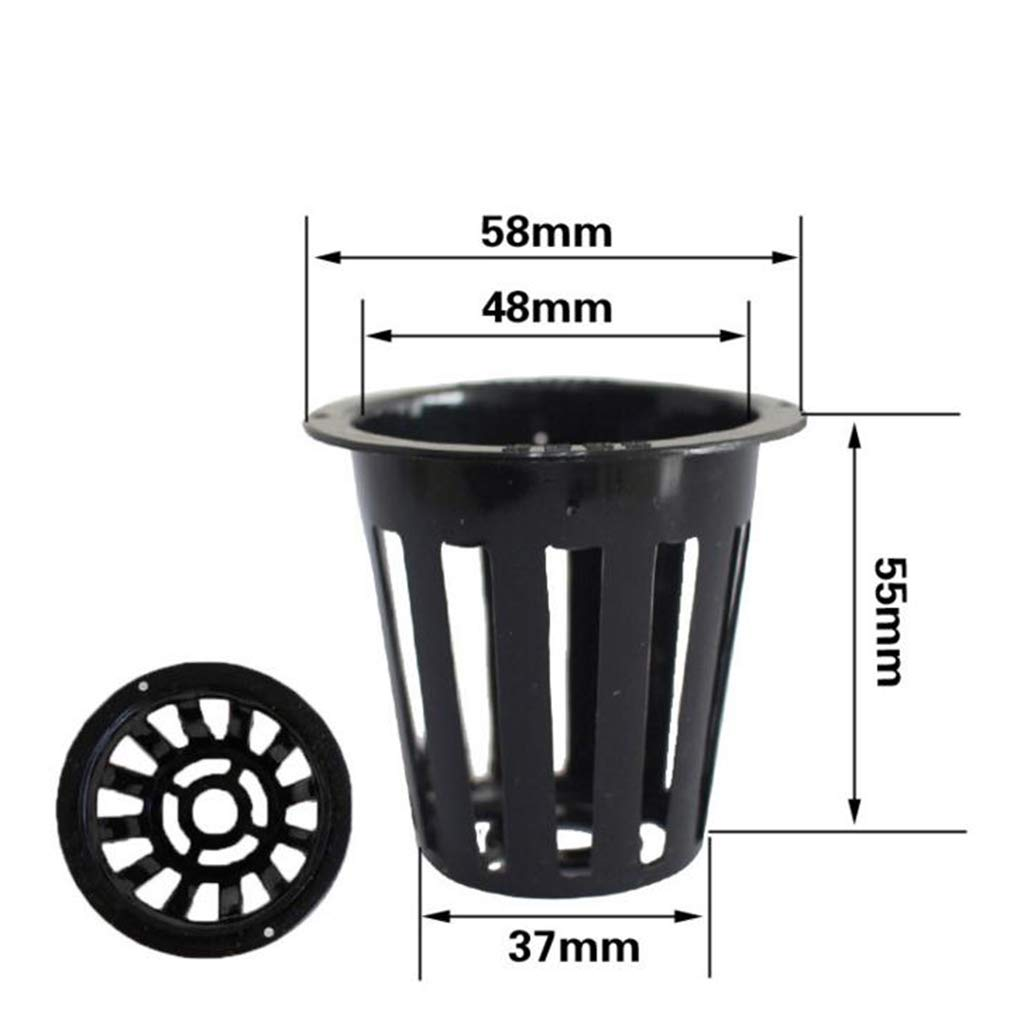 MagiDeal 10Pcs Net Cups Slotted Mesh Heavy Duty Filter Plant Net Pot Bucket Basket for Hydroponics Garden Containers B